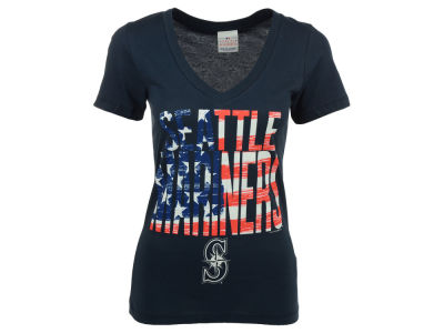 Seattle Mariners 5th & Ocean MLB Women's 2015 Flag T-Shirt