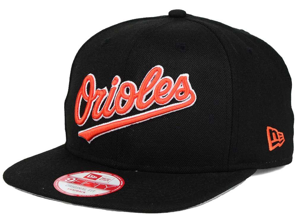 aff93b76b15 Baltimore Orioles New Era MLB XL Script 9FIFTY Snapback Cap