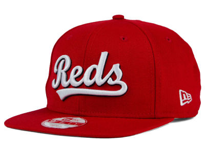 Cincinnati Reds New Era MLB XL Script 9FIFTY Snapback Cap