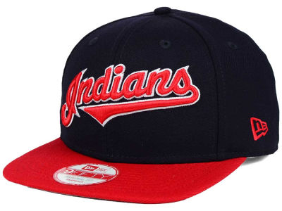 Cleveland Indians New Era MLB XL Script 9FIFTY Snapback Cap