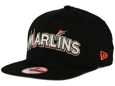 Miami Marlins New Era MLB XL Script 9FIFTY Snapback Cap