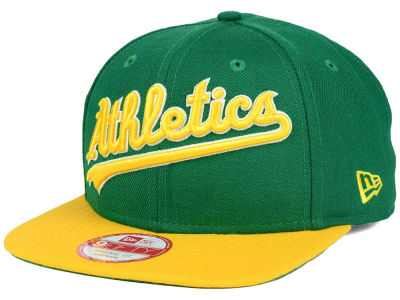 Oakland Athletics New Era MLB XL Script 9FIFTY Snapback Cap