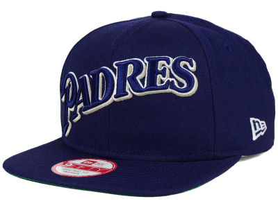 San Diego Padres New Era MLB XL Script 9FIFTY Snapback Cap