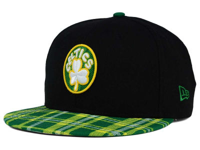 Boston Celtics New Era NBA HWC Team Plaid 9FIFTY Snapback Cap