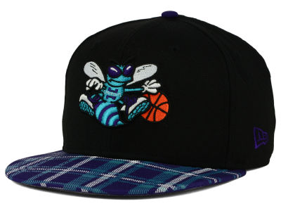 Charlotte Hornets New Era NBA HWC Team Plaid 9FIFTY Snapback Cap
