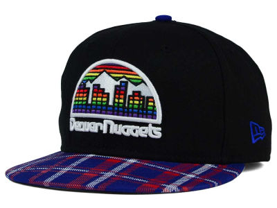 Denver Nuggets New Era NBA HWC Team Plaid 9FIFTY Snapback Cap