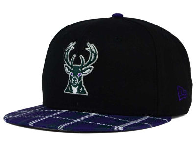 Milwaukee Bucks New Era NBA HWC Team Plaid 9FIFTY Snapback Cap