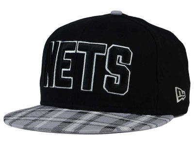 New Jersey Nets New Era NBA HWC Team Plaid 9FIFTY Snapback Cap