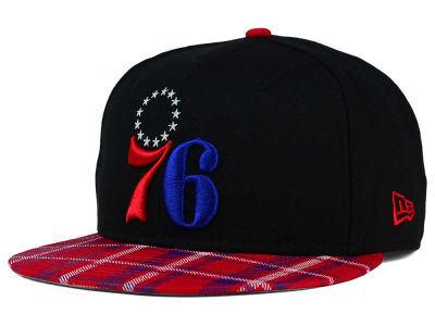 Philadelphia 76ers New Era NBA HWC Team Plaid 9FIFTY Snapback Cap