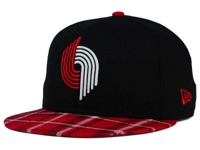 Portland Trail Blazers New Era NBA HWC Team Plaid 9FIFTY Snapback Cap