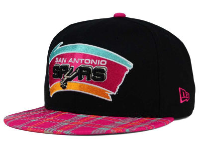 San Antonio Spurs New Era NBA HWC Team Plaid 9FIFTY Snapback Cap
