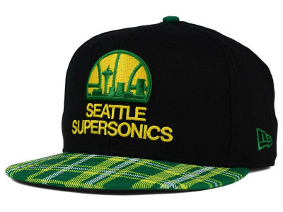 Seattle SuperSonics New Era NBA HWC Team Plaid 9FIFTY Snapback Cap