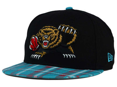Vancouver Grizzlies New Era NBA HWC Team Plaid 9FIFTY Snapback Cap