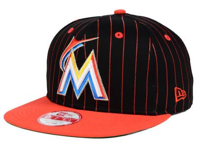 Miami Marlins New Era MLB Vintage Pinstripe 9FIFTY Snapback Cap