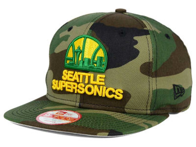 Seattle SuperSonics New Era NBA HWC State Clip 9FIFTY Snapback Cap