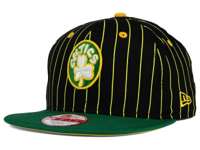 Boston Celtics New Era NBA Hardwood Classics Vintage Pinstripe 9FIFTY Snapback Cap