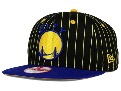 Golden State Warriors New Era NBA Hardwood Classics Vintage Pinstripe 9FIFTY Snapback Cap