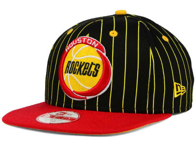 Houston Rockets New Era NBA Hardwood Classics Vintage Pinstripe 9FIFTY Snapback Cap
