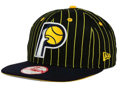 Indiana Pacers New Era NBA Hardwood Classics Vintage Pinstripe 9FIFTY Snapback Cap