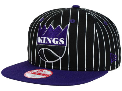 Sacramento Kings New Era NBA Hardwood Classics Vintage Pinstripe 9FIFTY Snapback Cap