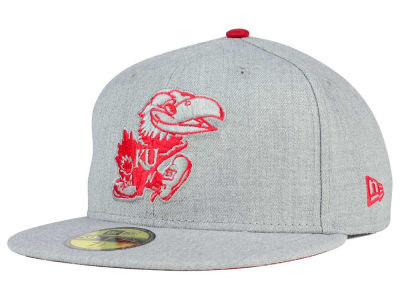 Kansas Jayhawks New Era NCAA Heather League Basic 59FIFTY Cap