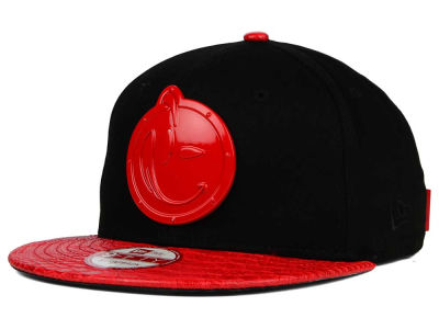 YUMS Hot Red Metal Face 9FIFTY Strapback Cap
