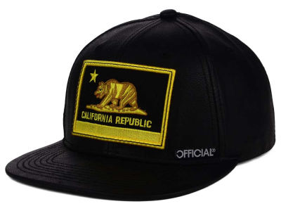 Official Cali Patch Leather Snapback Hat