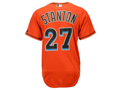 Miami Marlins Giancarlo Stanton Majestic MLB Men's Player Replica CB Jersey