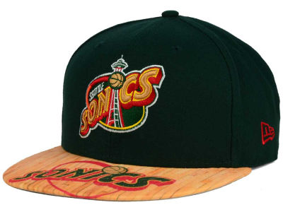 Seattle SuperSonics New Era NBA HWC Wood Viz 9FIFTY Snapback Cap
