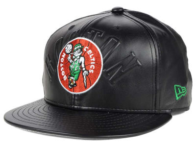 Boston Celtics New Era NBA HWC Leather Stamp 9FIFTY Snapback Cap