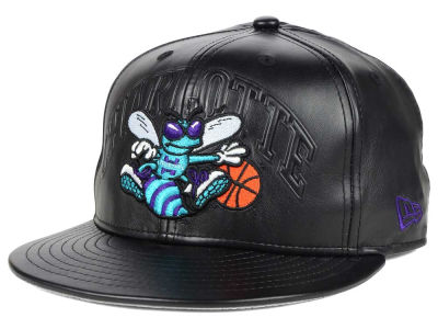 Charlotte Hornets New Era NBA HWC Leather Stamp 9FIFTY Snapback Cap
