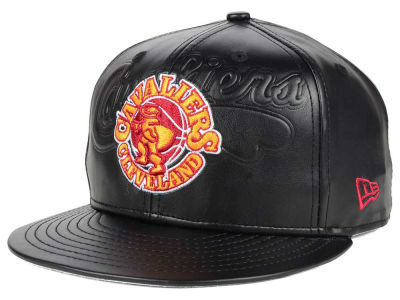 Cleveland Cavaliers New Era NBA HWC Leather Stamp 9FIFTY Snapback Cap