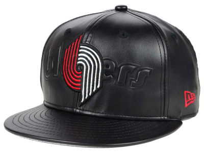 Portland Trail Blazers New Era NBA HWC Leather Stamp 9FIFTY Snapback Cap