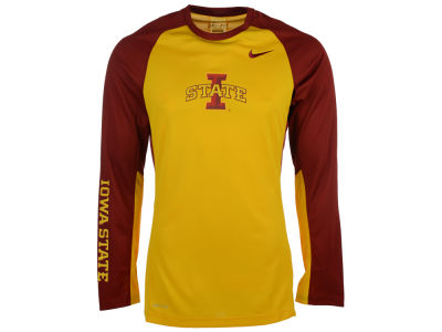 Iowa State Cyclones Nike NCAA Men's Elite Shootaround Long Sleeve T-Shirt