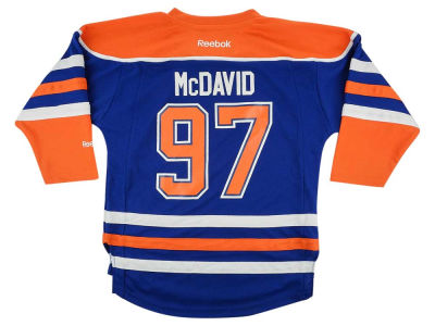 Edmonton Oilers Connor McDavid NHL Kids Replica Player Jersey