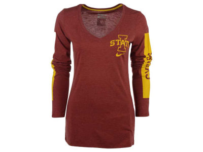 Iowa State Cyclones Nike NCAA Women's Triblend Modern Sport Long Sleeve T-Shirt