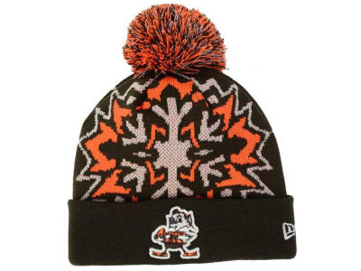 Cleveland Browns New Era NFL Glowflake 2.0 Knit