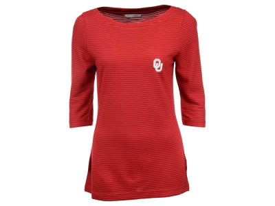 Oklahoma Sooners NCAA Women's Stripe Knit 3/4 Sleeve T-Shirt