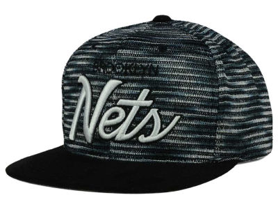 Brooklyn Nets Mitchell and Ness NBA Space Knit Strapback Cap