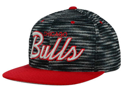 Chicago Bulls Mitchell and Ness NBA Space Knit Strapback Cap