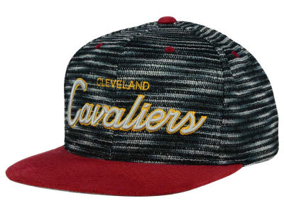Cleveland Cavaliers Mitchell and Ness NBA Space Knit Strapback Cap