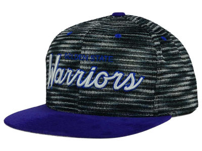 Golden State Warriors Mitchell and Ness NBA Space Knit Strapback Cap