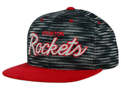 Houston Rockets Mitchell and Ness NBA Space Knit Strapback Cap