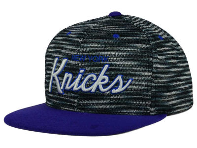 New York Knicks Mitchell and Ness NBA Space Knit Strapback Cap
