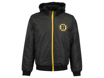 Boston Bruins NHL Men's Reversible Hooded Fleece Jacket