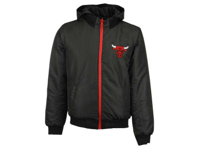 Chicago Bulls NBA Men's Reversible Hooded Fleece Jacket