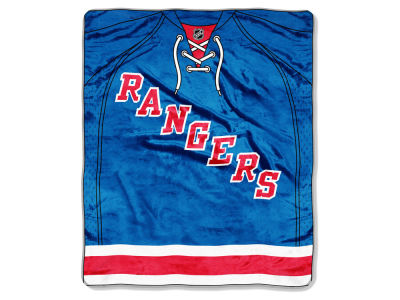 New York Rangers 50x60in Plush Throw Jersey