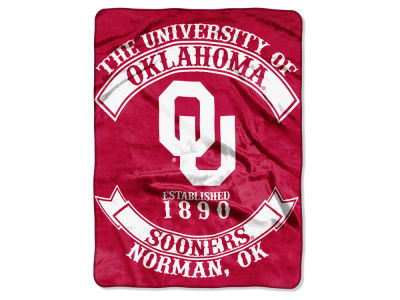 Oklahoma Sooners 60x80 Raschel Throw