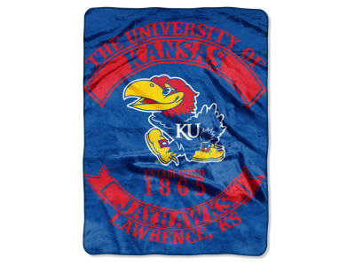 Kansas Jayhawks 60x80 Raschel Throw