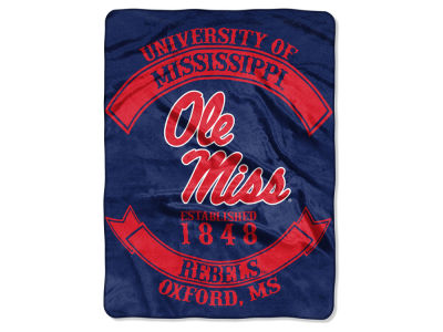 Ole Miss Rebels 60x80 Raschel Throw